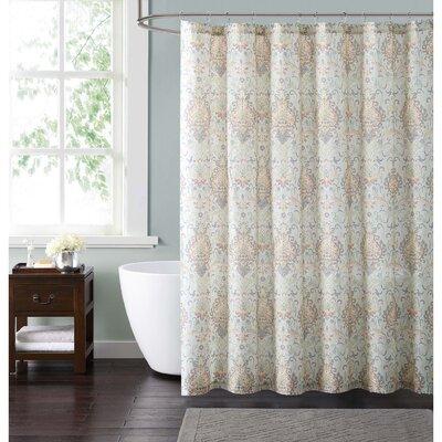 Clendaniel Cotton Shower Curtain Color: Ivory