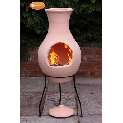 Gardeco Terracotta Chiminea with Stand and Lid