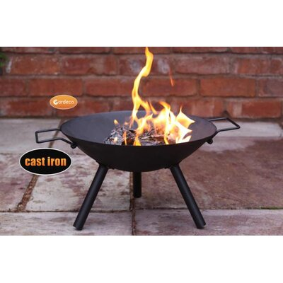 Gardeco Cast Iron Fire Pit with Tubular Legs