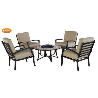 Gardeco Mosaic Round 4 Seater Casual Dining Set
