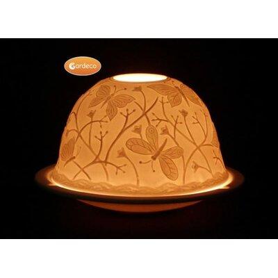 Gardeco Butterfly Tealight Porcelain Dish