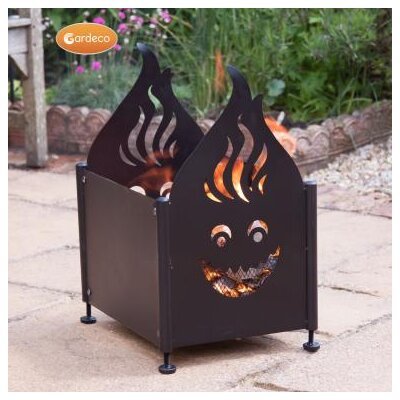 Gardeco Wacky Steel Firepit with Flame and Face Cutout