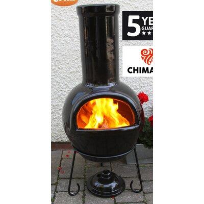 Gardeco Sempra Metal and Clay Wood Chiminea