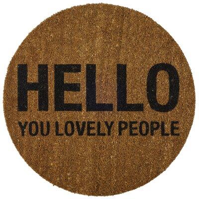 Bloomingville Hello You Lovely People Doormat