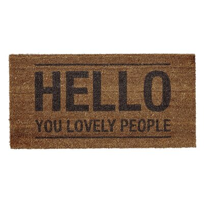 Bloomingville 'Hello You Lovely People' Doormat