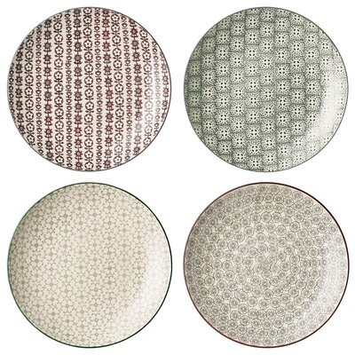 Bloomingville Karine 25cm 4 Piece Plate Set