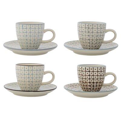 Bloomingville Elizabeth 8 Piece Espresso Cup and Saucer Set