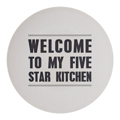 Bloomingville Welcome Bamboo Plate