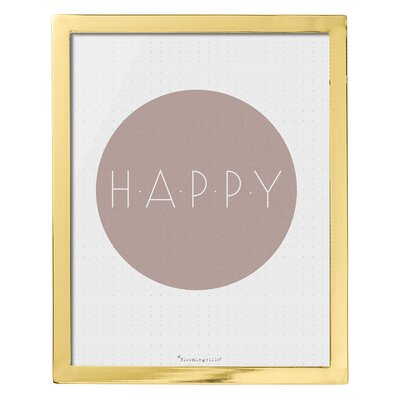 Bloomingville 'Happy' Framed Typography