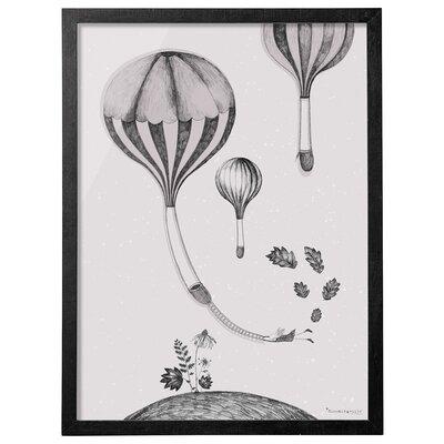 Bloomingville Balloon Hill' Framed Graphic Art