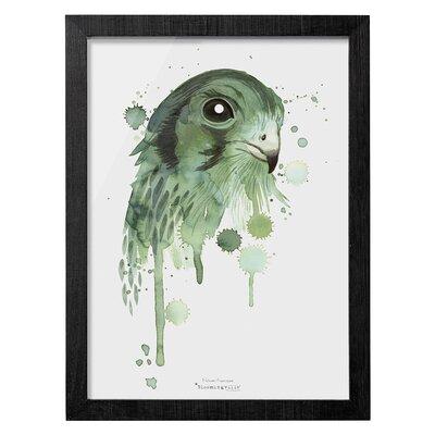 Bloomingville 'Green Eagle' Framed Art Print