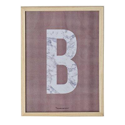 Bloomingville 'B' Framed Typography