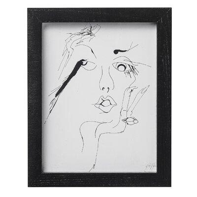 Bloomingville 'Sketched Woman 2' Framed Art Print
