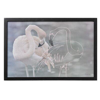 Bloomingville 'Flamingo' Framed Graphic Art