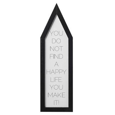 Bloomingville 'You Do Not Find....' Framed Typography