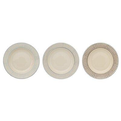 Bloomingville Elizabeth 3 Piece Soup Plate Set