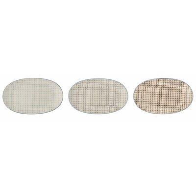 Bloomingville Elizabeth 3 Piece Oval Plate Set