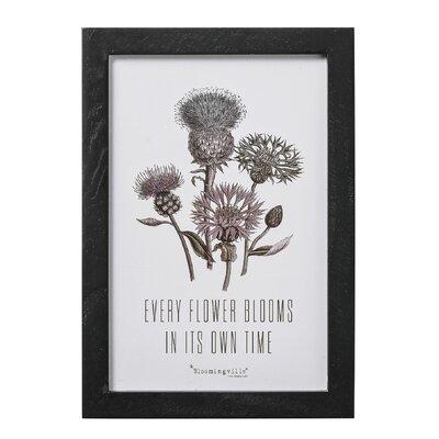 Bloomingville 'Every Flower...' Framed Graphic Art