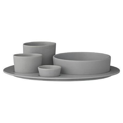 Bloomingville Gitte 5 Piece Plate with Bowl Set