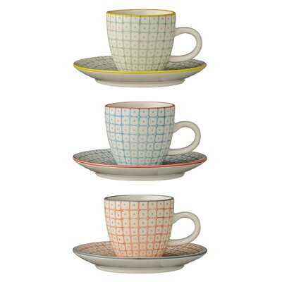 Bloomingville Carla Espresso Cup and Saucer