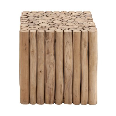 Teak Wood Square Stool