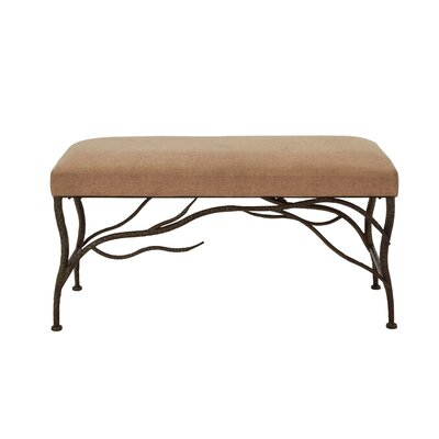 Flynt Metal/Wood and Upholstered Bench