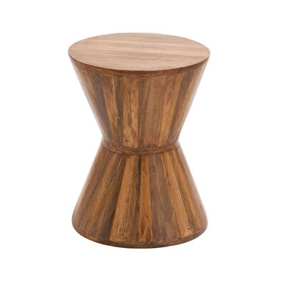 Wood Plant Accent Stool