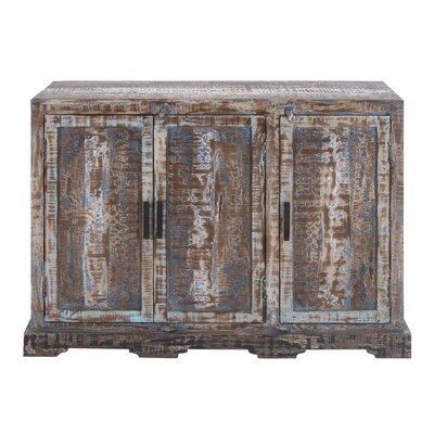 3 Door Wood Accent Cabinet