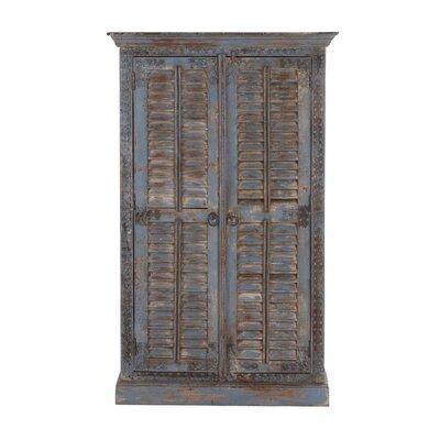 2 Door Wood Armoire Accent Cabinet