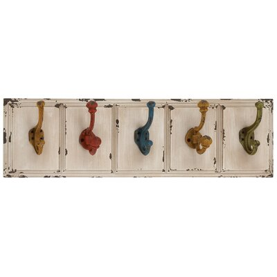 Country Inspired Wood and Metal Wall Hooks
