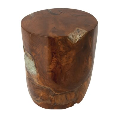 Teak Wood and Resin Stool