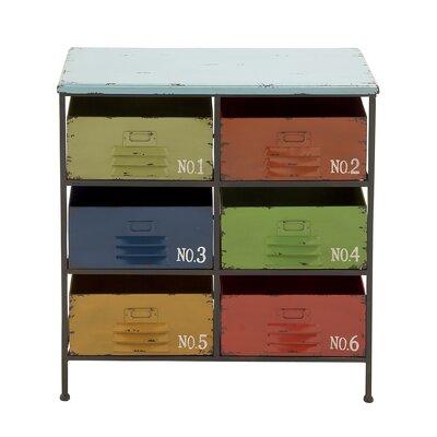 6 Drawer Wood Storage Chest