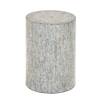 Borger Mosaic Wood Inlay Stool