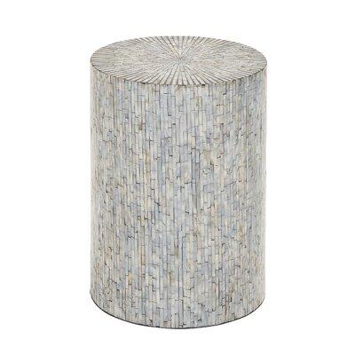 Borger Mosaic Wood Inlay Stool
