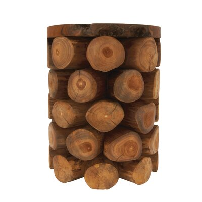 Teak Wood Log Stool