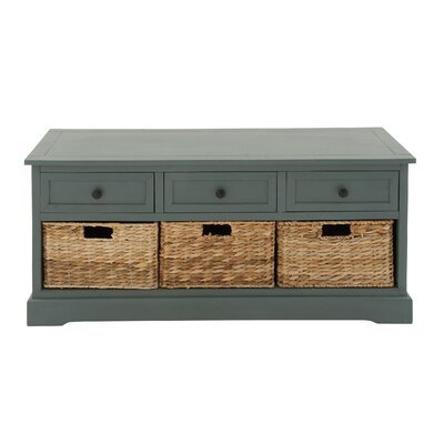 Tecoria Wood Storage Bench