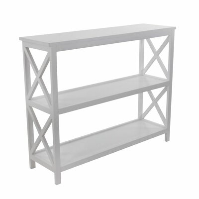 Wood Console Table Color: White