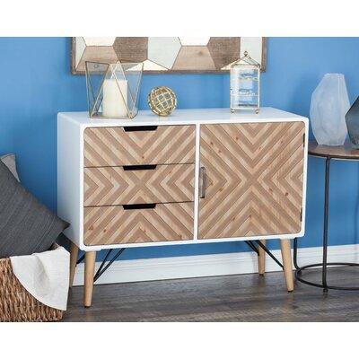 3 Drawer 1 Door Accent Cabinet