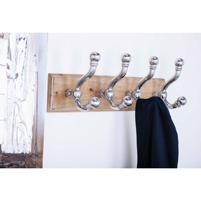 Wall Mounted Coat Rack Color: Silver