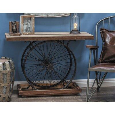 Metal/Wood Wheel Console Decorative Bird Cage