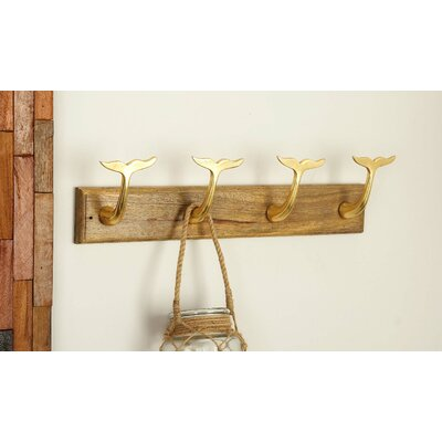 Wall Mounted Coat Rack Finish: Gold