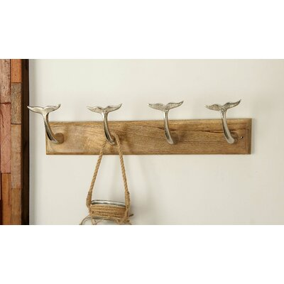 Wall Mounted Coat Rack Finish: Silver