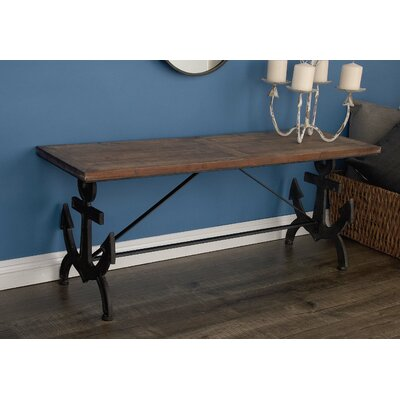 Metal Wood Anchor Bench