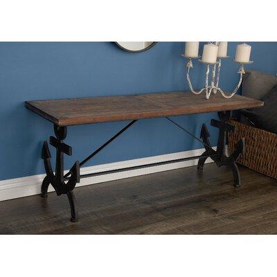 Metal Wood Anchor Bench