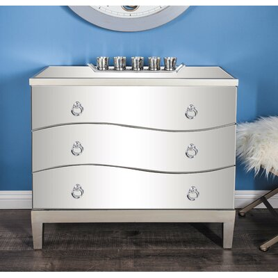 3 Drawer Accent Chest Color: Matte White