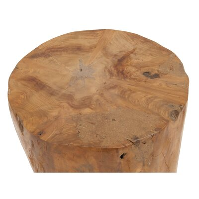 Wood Teak and Resin Garden Stool