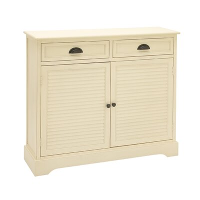 2 Door 2 Drawer Wood Accent Cabinet