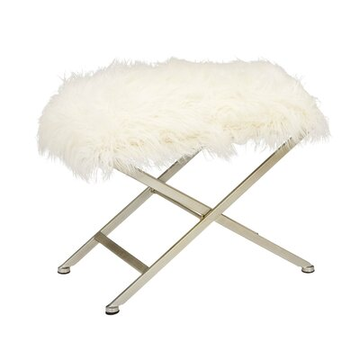 Metal Fur Stool