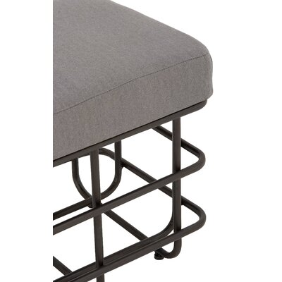 Metal Fabric Accent Stool