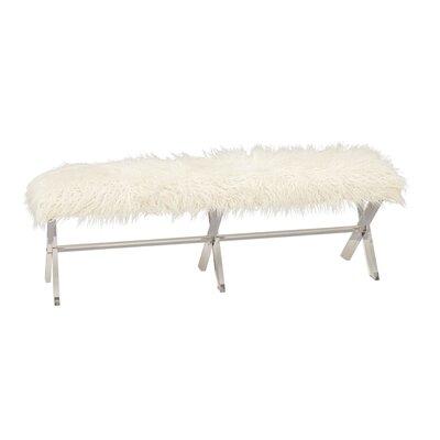 Acrylic Faux Fur Bench